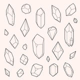 Set of vector crystal shapes Stock Photo
