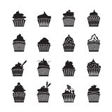 Set of vector cupcakes Royalty Free Stock Photos