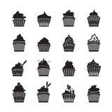 Set of vector cupcakes.  Royalty Free Stock Photos