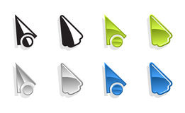 Set of vector cursors Stock Images