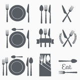 Set vector cutlery icons Royalty Free Stock Photography