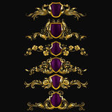 Set of vector damask ornaments. Royalty Free Stock Photography