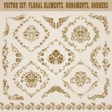 Set of vector damask ornaments. Stock Images