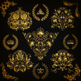 Set of vector damask ornaments Royalty Free Stock Photos