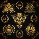 Set of vector damask ornaments Stock Image