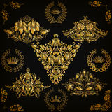 Set of vector damask ornaments Stock Photo