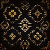 Set of vector damask ornaments. Stock Photography