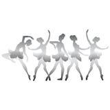 Set of vector dancers Stock Photos