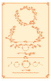 Set of vector decorative autumn floral elements for design Stock Photo