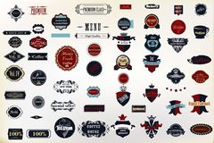 Set of vector decorative badges and labes for design royalty free stock photos