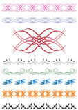 Set of vector decorative elements for design Stock Photography