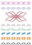 Set of vector decorative elements for design. Set of  color decorative elements for design Stock Photography
