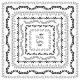 Set of vector decorative elements. Square frames Stock Images