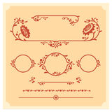 Set of vector decorative floral elements for design Stock Photo