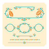 Set of vector decorative floral elements for design Royalty Free Stock Photo