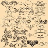 Set of vector decorative flourishes in vintage style Royalty Free Stock Image