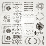 Set of Vector Decorative Hand Drawn Design Elements Stock Image