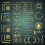 Set of Vector Decorative Hand Drawn Design Elements Royalty Free Stock Photos
