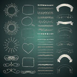 Set of Vector Decorative Hand Drawn Design Elements Stock Images