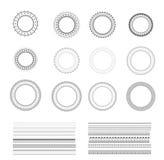 Set of vector decorative round frames. Royalty Free Stock Photos