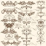 Set of vector decorative vintage calligraphic elements for desig Stock Photography