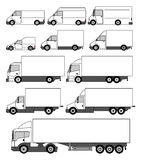 Set of vector delivery cars icons Royalty Free Stock Image