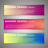 Set Vector design Banner background. Header, horizontal,. Lilac red blue Royalty Free Stock Photo