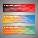 Set Vector design Banner background. Header, horizontal,. Orange green red Royalty Free Stock Photos