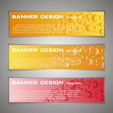 Set Vector design Banner background. Header, horizontal,. Yellow Red Royalty Free Stock Images
