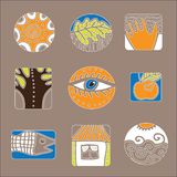 Set of vector design elements. A set of vector design elements. Environment and people vector illustration