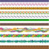 Set of vector design elements in different styles. Set of vector elements for design - strips in different styles Royalty Free Stock Photo
