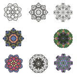 Set of vector design of flowers Royalty Free Stock Image