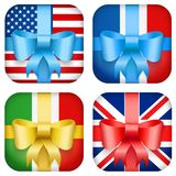 Set of Vector Design national Gift Icon for Web Royalty Free Stock Images