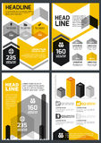 Set of vector design template. Concept for brochure, flyer, post Stock Photo