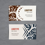 Set of vector design templates. Brochures in random colorful style. Vintage frames and backgrounds. Business card with Stock Photography