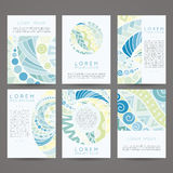 Set of vector design templates. Brochures in Stock Photography