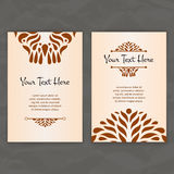 Set of vector design templates. Business card with circle ornament. Royalty Free Stock Photos