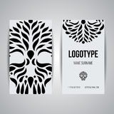 Set of vector design templates. Business card with circle ornament. Royalty Free Stock Images