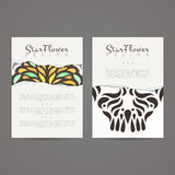 Set of vector design templates. Business card with floral ornament. Royalty Free Stock Photography
