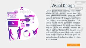 Visual Design Conceptual Banner. Set of vector diagram illustration use for computer, business, creative, process and much more.The set can be used for several vector illustration