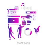 Visual Design Conceptual Design. Set of vector diagram illustration use for computer, business, creative, process and much more.The set can be used for several royalty free illustration