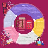 Mathematics Infographic. Set of vector diagram illustration use for education, science, learning, reading and much more. The set can be used for several purposes royalty free illustration