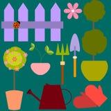 Set of vector different garden tools Stock Image
