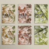 Set vector dirty camouflage for background Royalty Free Stock Photo