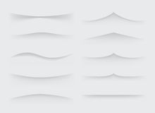 Set of vector dividers Stock Photography