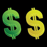 Set of vector dollar signs. Royalty Free Stock Images