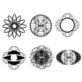 Set of vector doodle drawing abstract arrows and symbols Stock Images