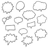 Set of vector doodle drawing abstract symbols Royalty Free Stock Images