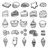 Set of vector doodle pictures illustrations - different kinds of vector illustration