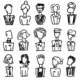 Doodle avatar set Royalty Free Stock Images
